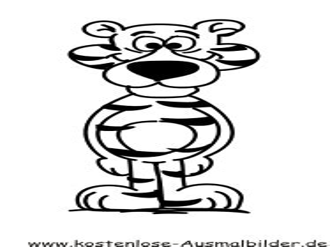 Ausmalbilder Comic Tiere
