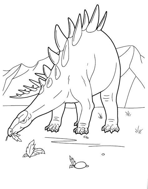 Ausmalbilder Dinosaurier Stegosaurus