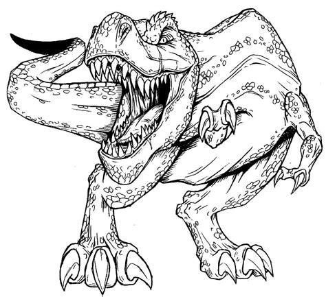 Ausmalbilder Dinosaurier T-rex