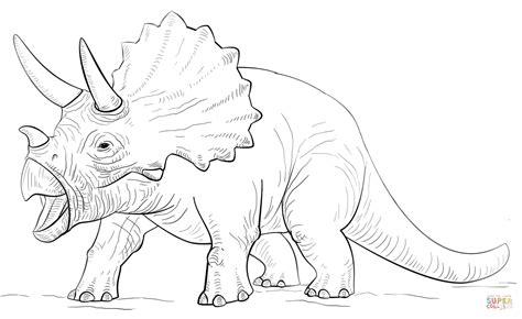 Ausmalbilder Dinosaurier Triceratops