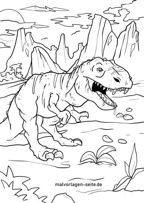 Ausmalbilder Dinosaurier Tyrannosaurus Rex