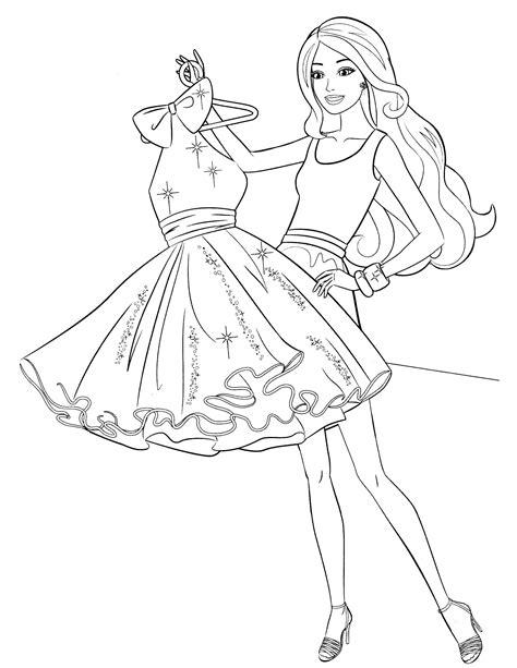 Ausmalbilder Drucken Barbie