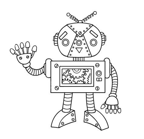 Ausmalbilder Drucken Roboter