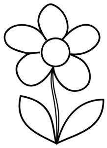 Ausmalbilder Einfache Blume