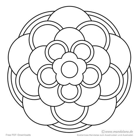 Ausmalbilder Einfache Mandalas