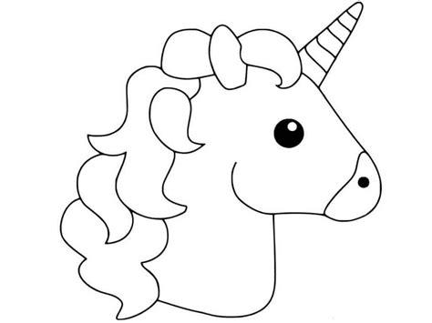 Ausmalbilder Einhorn Emoji