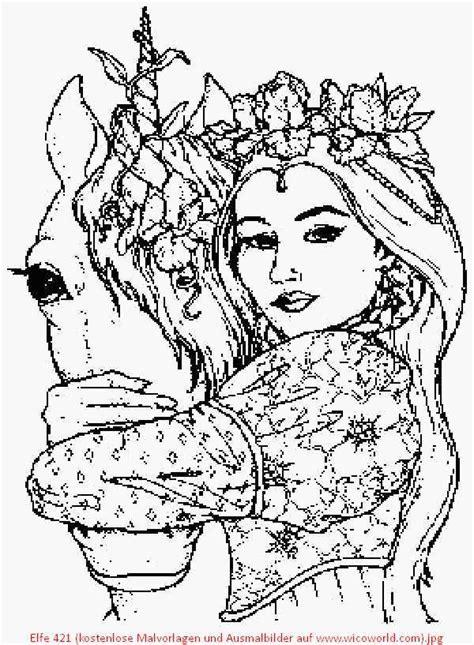 Ausmalbilder Einhorn Und Elfen