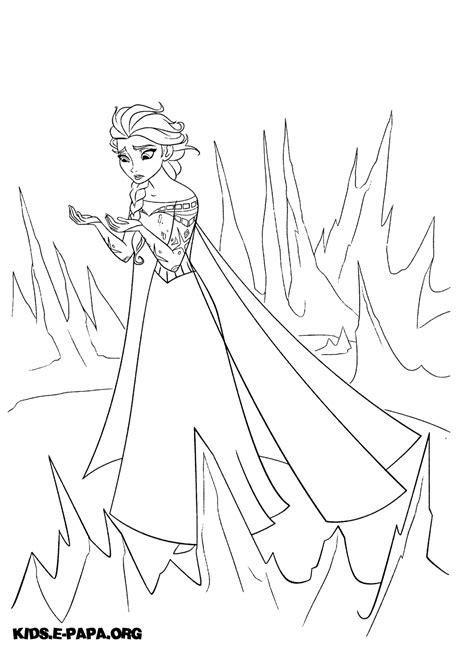 Ausmalbilder Eiskönigin Elsa
