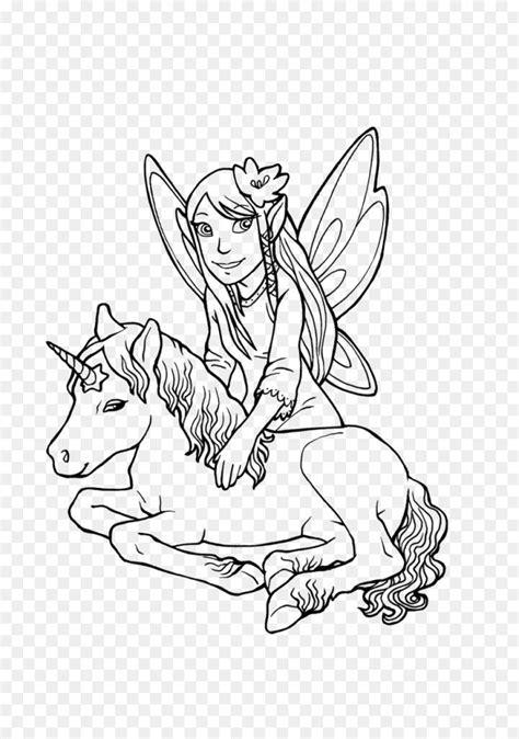 Ausmalbilder Elfen Und Pferde