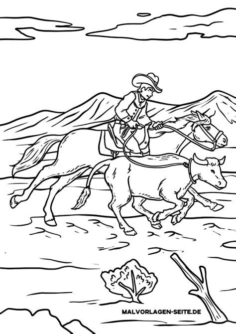 Ausmalbilder Erwachsene Cowboy