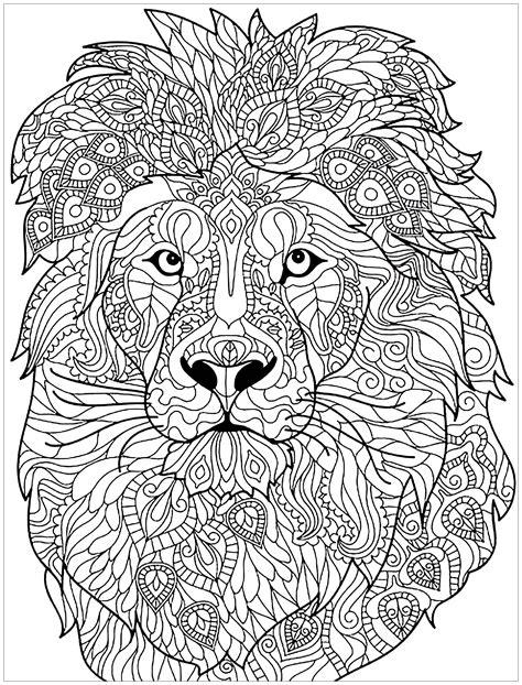 Ausmalbilder Erwachsene Löwe