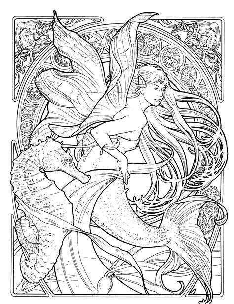 Ausmalbilder Erwachsene Meerjungfrau