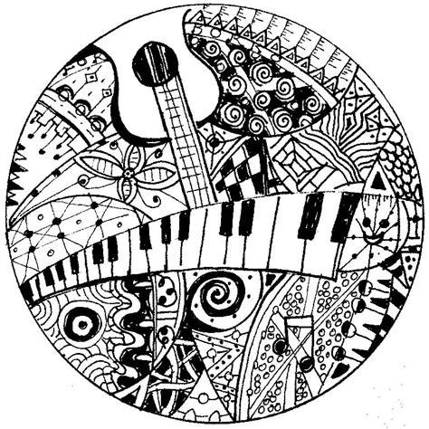 Ausmalbilder Erwachsene Musik