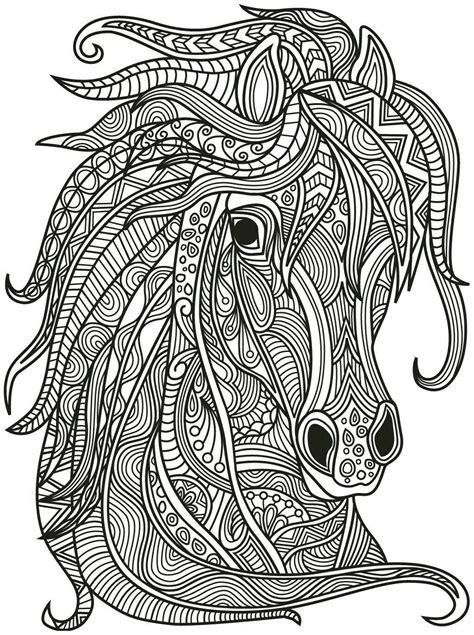 Ausmalbilder Erwachsene Pferde