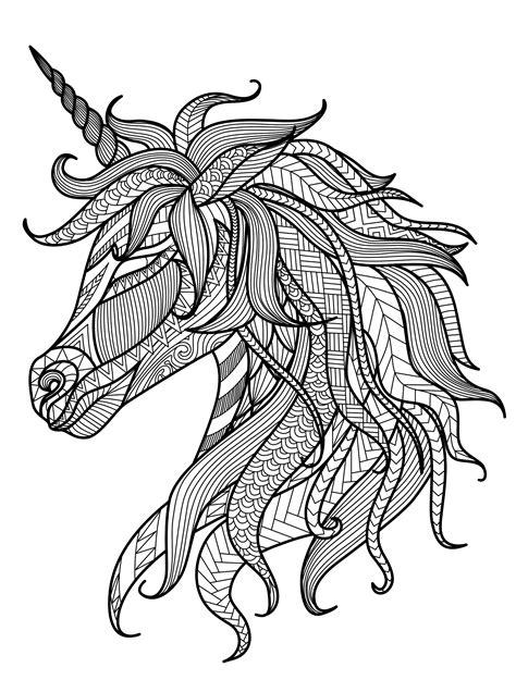 Ausmalbilder Erwachsene Pferdekopf