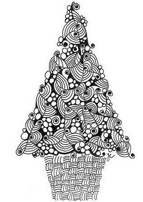Ausmalbilder Erwachsene Weihnachtsbaum