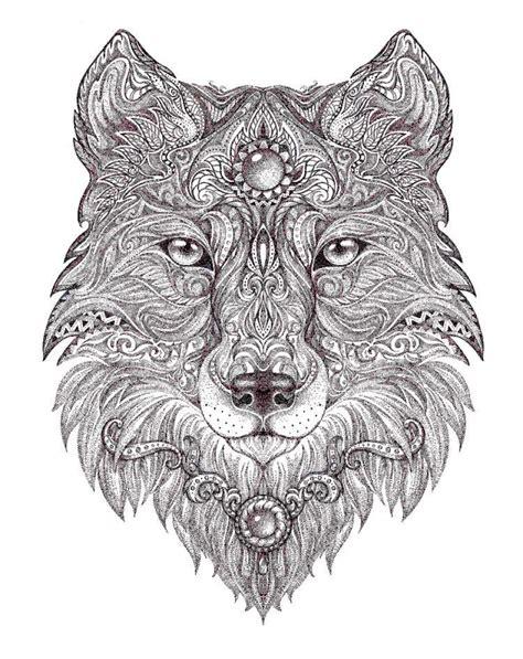 Ausmalbilder Erwachsene Wolf