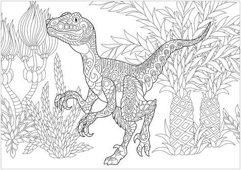 Ausmalbilder Für Erwachsene Dinosaurier