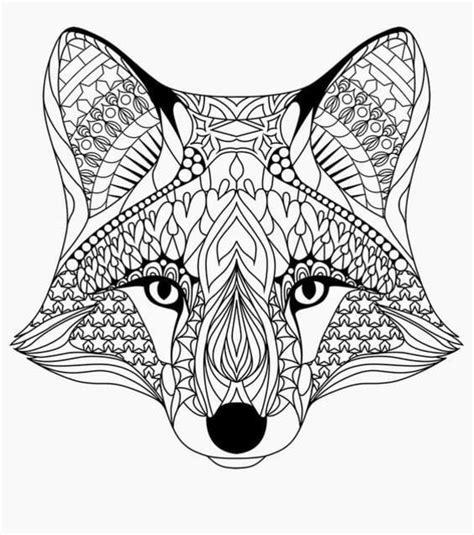 Ausmalbilder Für Erwachsene Fuchs