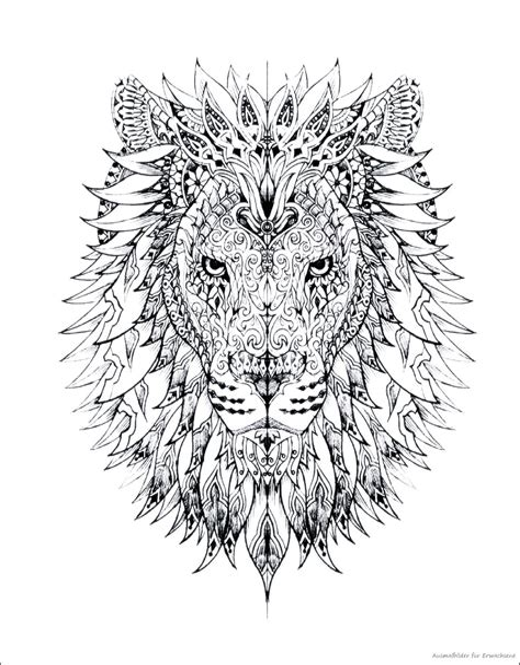 Ausmalbilder Für Erwachsene Löwe
