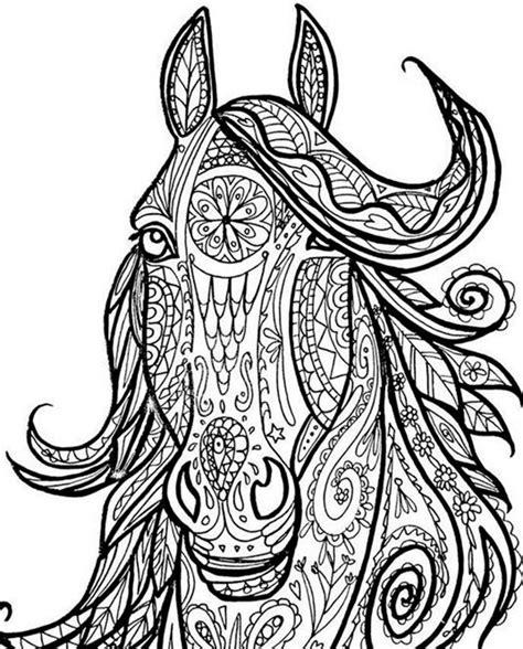 Ausmalbilder Für Erwachsene Pferde