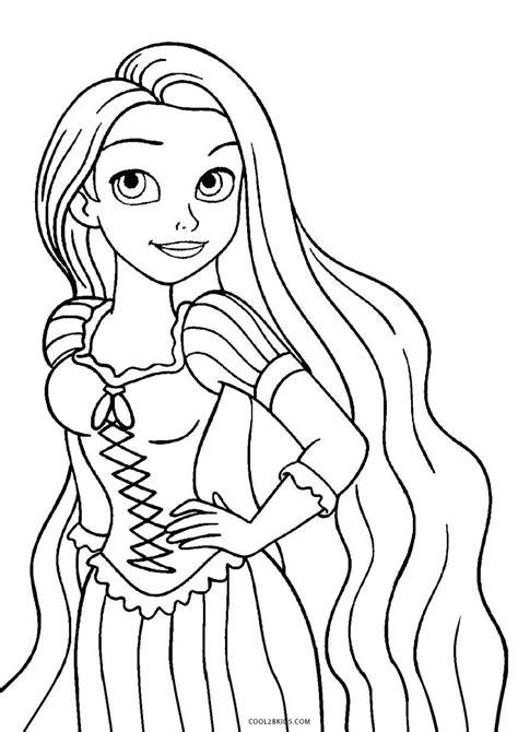 Ausmalbilder Für Kinder Rapunzel