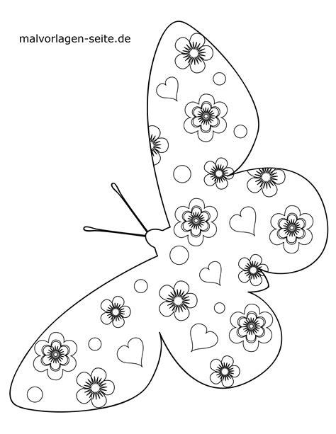 Ausmalbilder Für Kinder Schmetterlinge