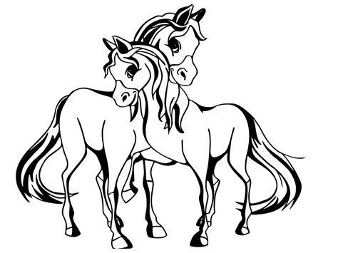 Ausmalbilder Für Kinder Zum Ausdrucken Pferde