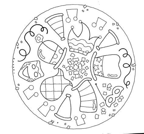 Ausmalbilder Fasching Mandala