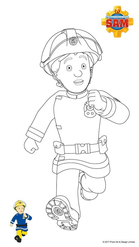 Ausmalbilder Feuerwehrmann Sam Gratis