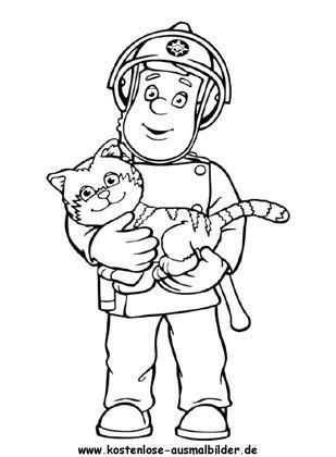Ausmalbilder Feuerwehrmann Sam Kika