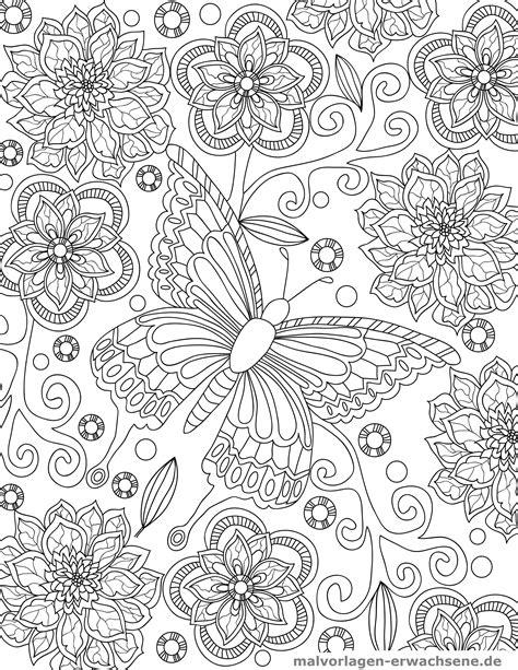Ausmalbilder Frühling Schmetterling