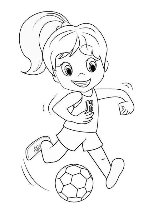 Ausmalbilder Fußball Mädchen
