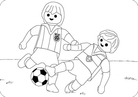 Ausmalbilder Fußball Playmobil