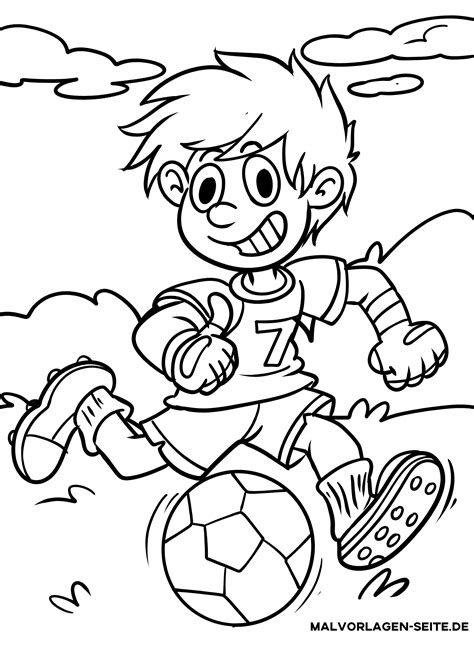 Ausmalbilder Fußball Spielen
