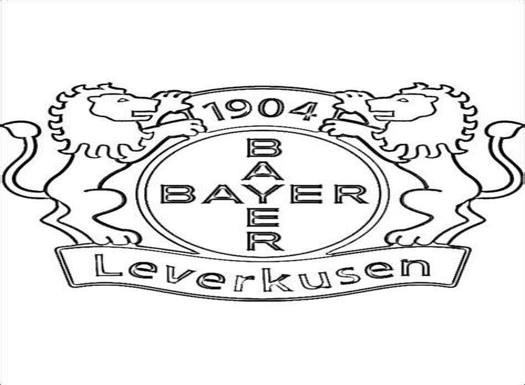 Ausmalbilder Fussball Leverkusen