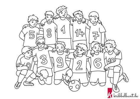Ausmalbilder Fussball Mannschaften