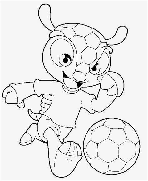 Ausmalbilder Fussball Maskottchen