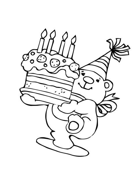Ausmalbilder Geburtstag Kostenlos