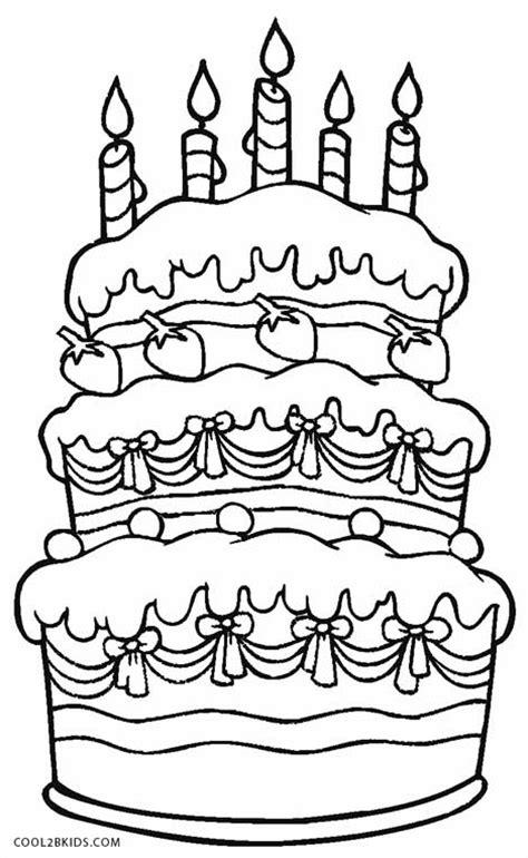 Ausmalbilder Geburtstag Torte