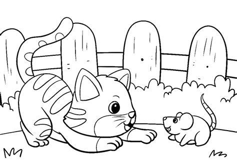 Ausmalbilder Gratis Katze Und Maus