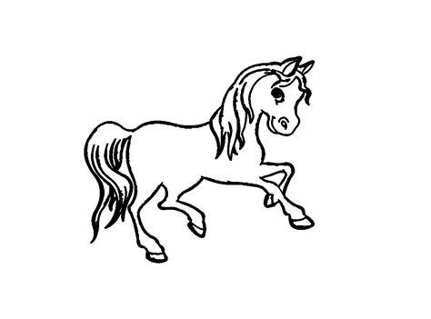 Ausmalbilder Gratis Pferde Drucken