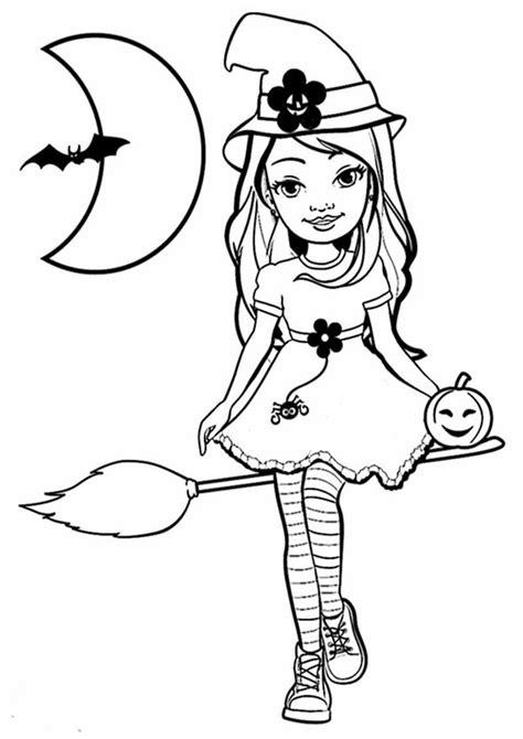 Ausmalbilder Halloween Mädchen