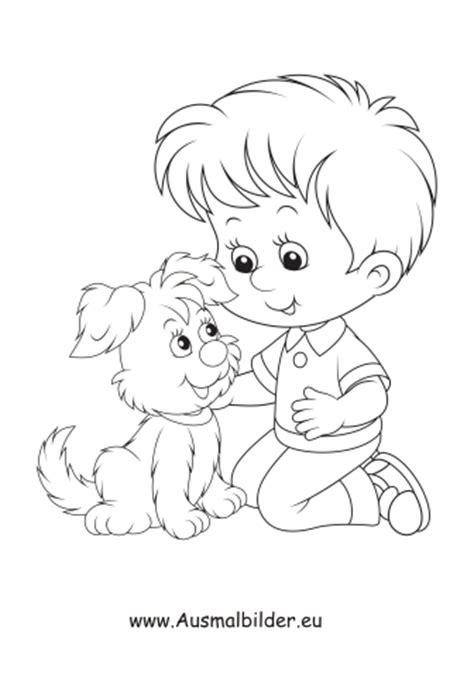 Ausmalbilder Hunde Mit Menschen