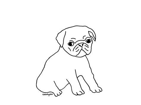 Ausmalbilder Hunde Mops
