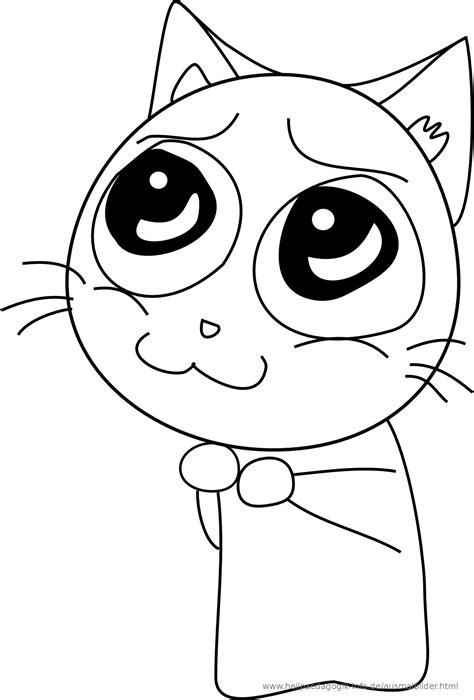 Ausmalbilder Katzen Baby