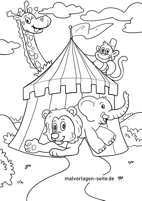 Ausmalbilder Kinder Zirkus