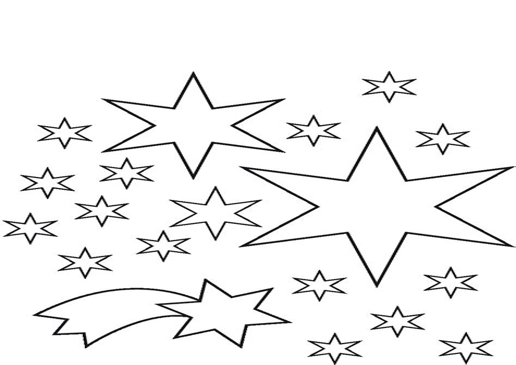 Ausmalbilder Kleine Sterne