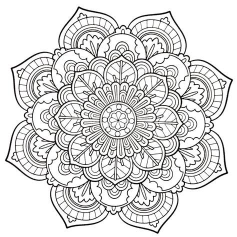 Ausmalbilder Kostenlos Ausdrucken Mandala