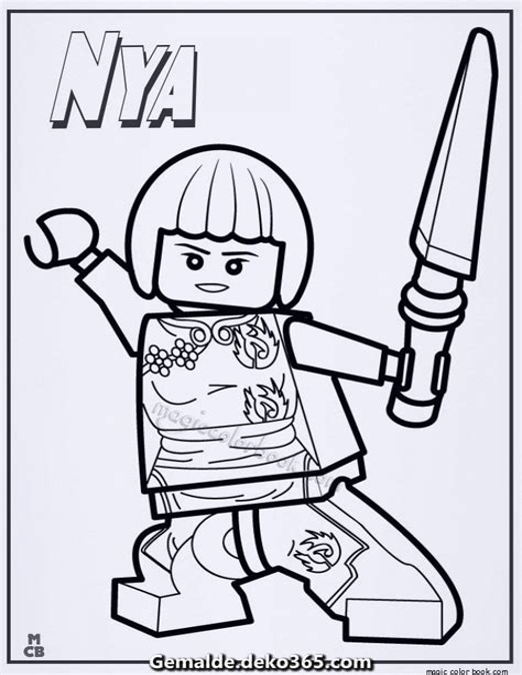 Ausmalbilder Lego Ninjago Nya